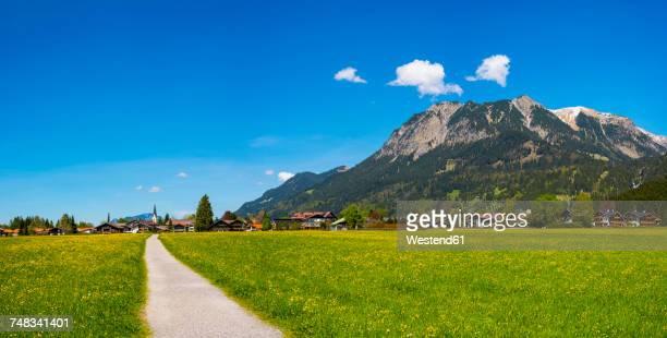 Germany, Bavaria, Allgaeu, Lorettowiesen and Oberstdorf