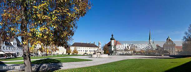 germany, bavaria, altoetting, cityscape at kapellplatz - altötting stock photos and pictures