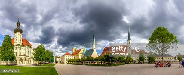 germany, bavaria, altoetting, old townhall, chapel of grace, st. magdalena and kongregationssaal - altötting stock photos and pictures