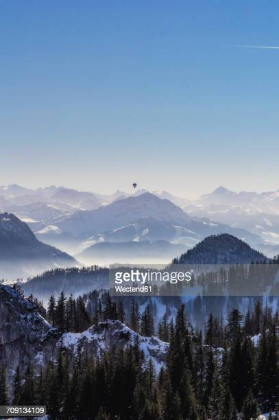 Germany, Bavaria, Aschau, winter landscape as seen from Kampenwand