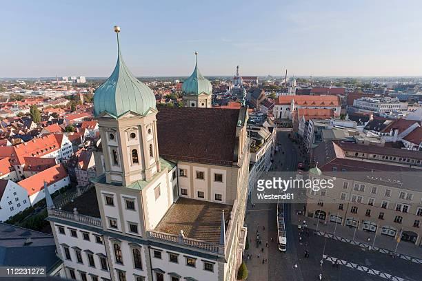 Germany, Bavaria, Augsburg, Maximilianstraße, View of city