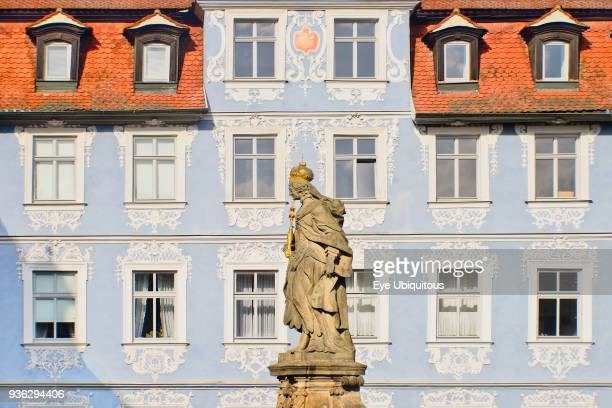 Germany, Bavaria, Bamberg, Kaiserin Kunigunde statue, Empress of the Holy Roman Empire by marriage to Holy Roman Emperor Saint Henry II and a...