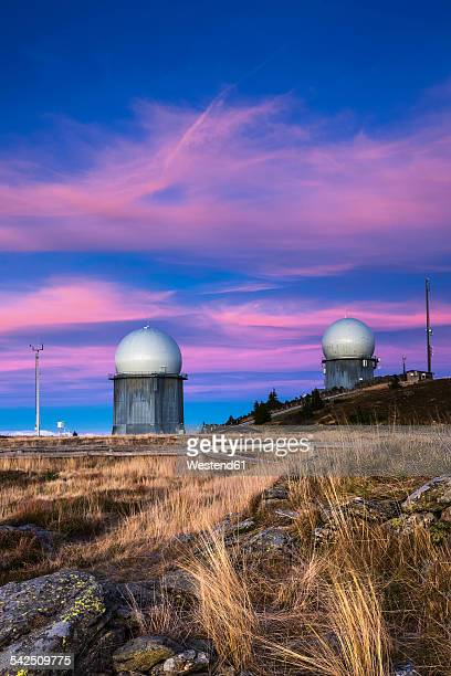 Germany, Bavaria, Bavarian Forest National Park, View of radome on Grosser Arber in the evening