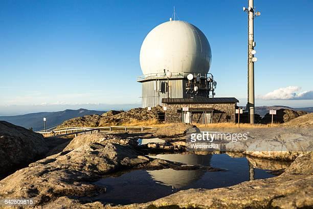 Germany, Bavaria, Bavarian Forest, View of radar dome on Grosser Arber