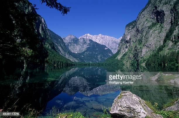 Germany Bavaria Berchtesgaden Konigsee Area Obersee