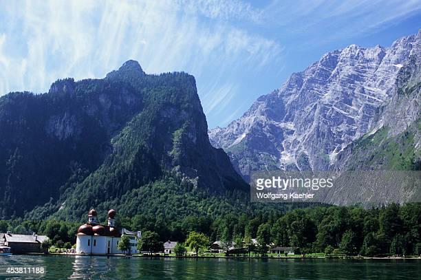 Germany Bavaria Berchtesgaden Konigsee St Bartholoma Watzmann East Face