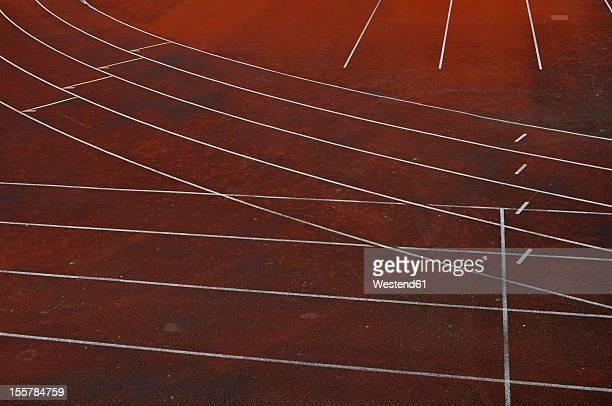 Germany, Bavaria, Cinder running track