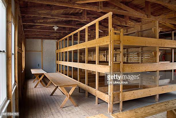 Germany Bavaria Dachau Dachau World War II Nazi Concentration Camp Memorial Site Interior of reconstructed prisoner barracks