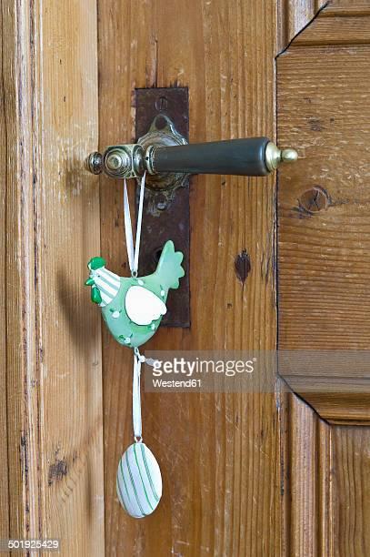 Germany, Bavaria, Easter dekoration on wooden door