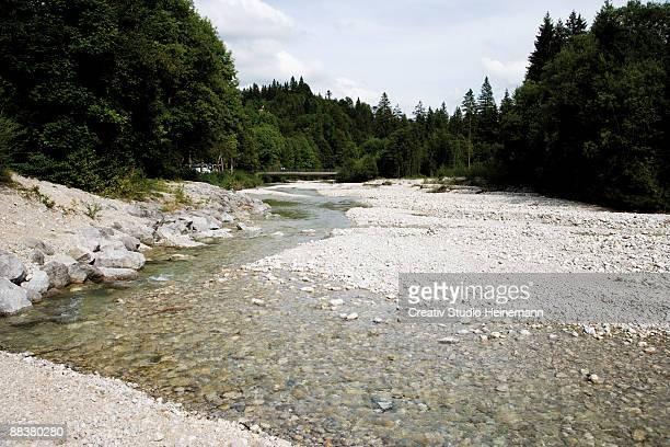 Germany, Bavaria, empty riverbed