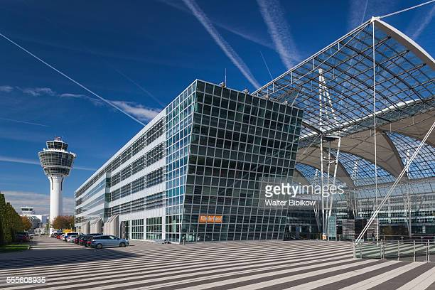 germany, bavaria, exterior - munich airport stock photos and pictures