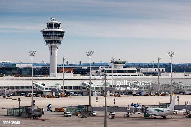 germany, bavaria, exterior - control tower stock pictures, royalty-free photos & images