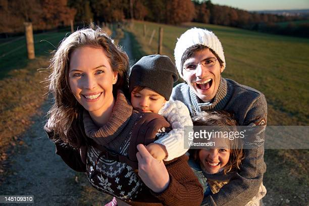 Germany, Bavaria, Family having fun, smiling