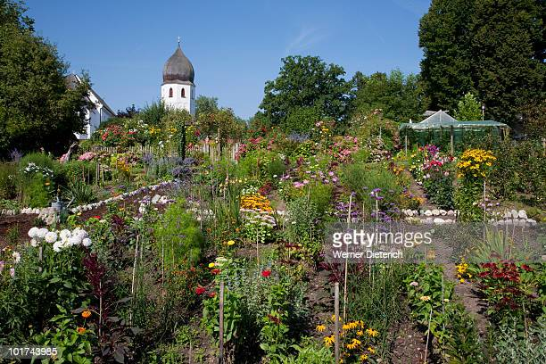 Germany, Bavaria, Frauenchiemsee Abbey, Monastery garden