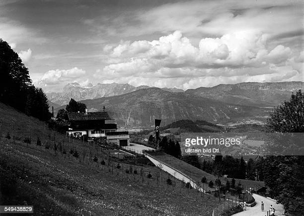 Germany Bavaria Free State View at Adolf Hitler's mountain residence the Berghof 1934 Photographer Philipp Kester Published by 'Uhu' 9/1934 Vintage...