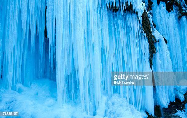 Germany, Bavaria, frozen waterfall, close-up