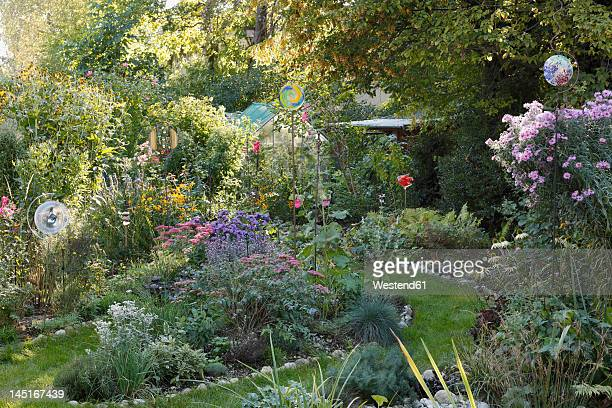 Germany, Bavaria, Geretsried, View of garden