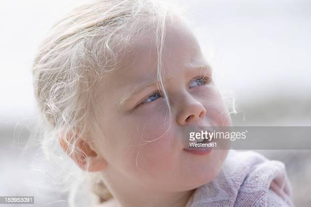 Germany, Bavaria, Girl looking away, close up