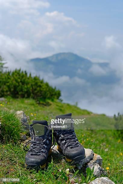 Germany, Bavaria, Hirschberg, hiking shoes