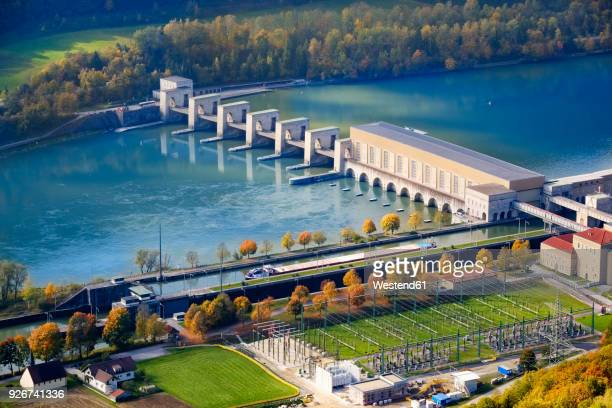 germany, bavaria, jochenstein hydro plant - hydroelectric power station stock photos and pictures