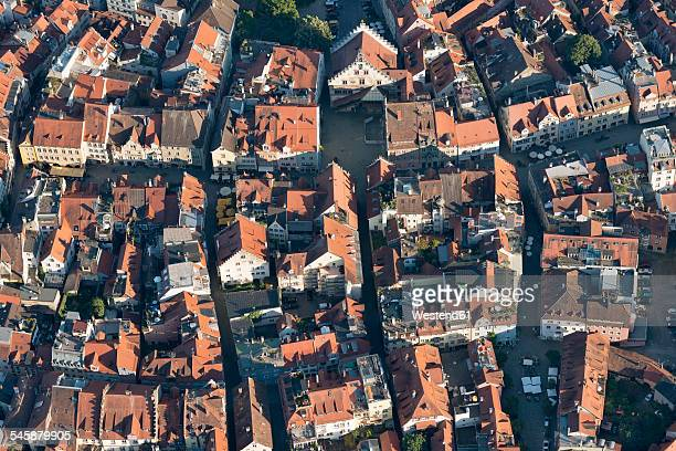Germany, Bavaria, Lake Constance, Lindau, aerial view of old town