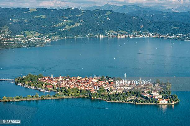 germany, bavaria, lake constance, lindau, island and pfaender - bodensee stock-fotos und bilder
