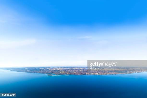 Germany, Bavaria, Lake Starnberg, drone photography