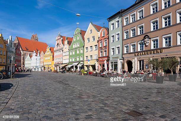 Germany, Bavaria, Landshut, old town, historic  buildings at pedestrian area