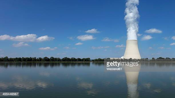 Germany, Bavaria, Landshut, View of nuclear power plant