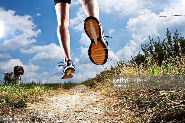 Germany, Bavaria, Mature Man jogging