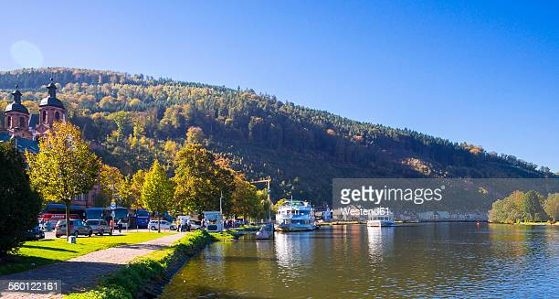Germany, Bavaria, Miltenberg, excursion boats on the river Main