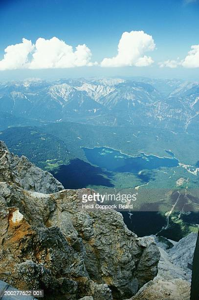 germany, bavaria, mountains and lakes, elevated view - heidi coppock beard stock-fotos und bilder