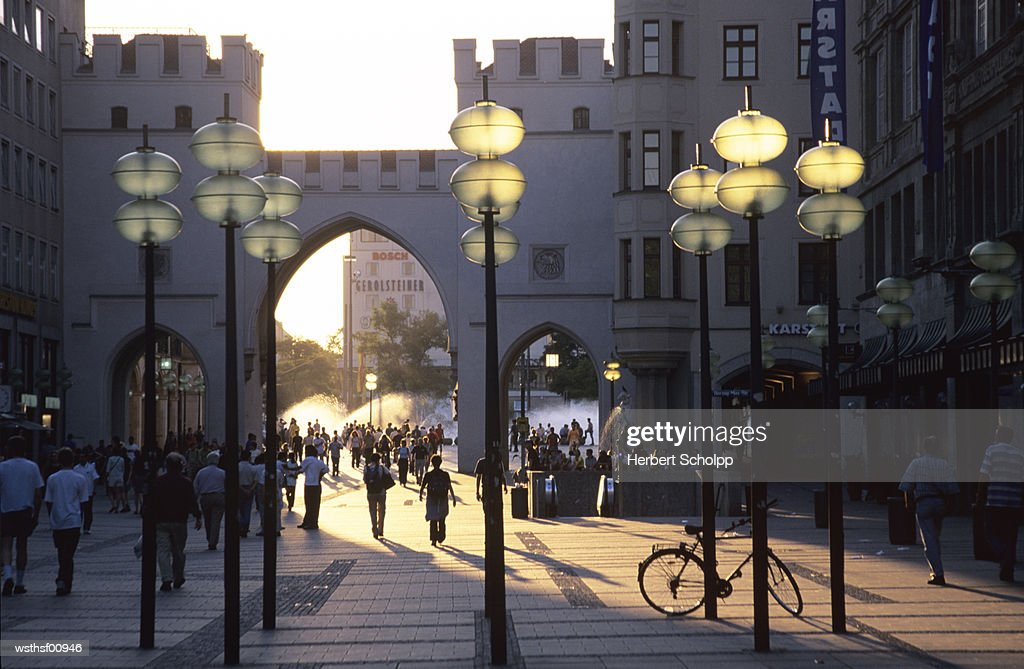 Germany, Bavaria, Munich, Around the Karsplatz/Stachus : Stock Photo