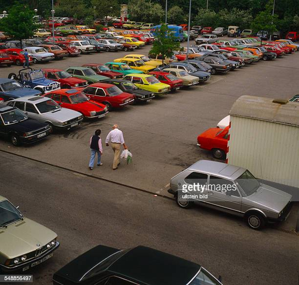 Germany Bavaria Munich - cars on a parking space - 1970s