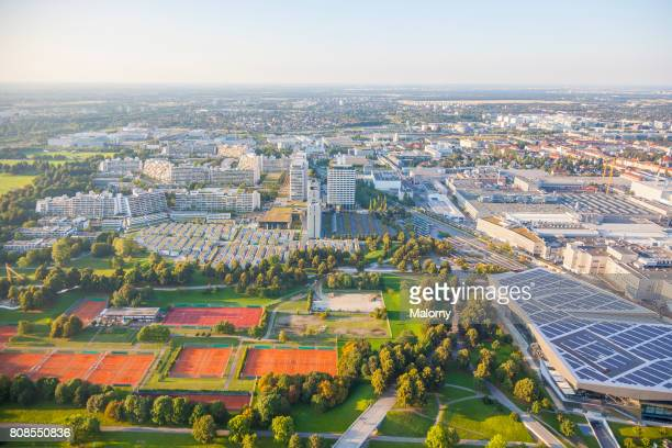 Germany, Bavaria, Munich, cityscape, drone photography. Aerial view