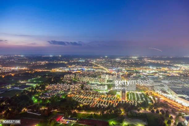 germany, bavaria, munich, cityscape, drone photography - munich photos et images de collection