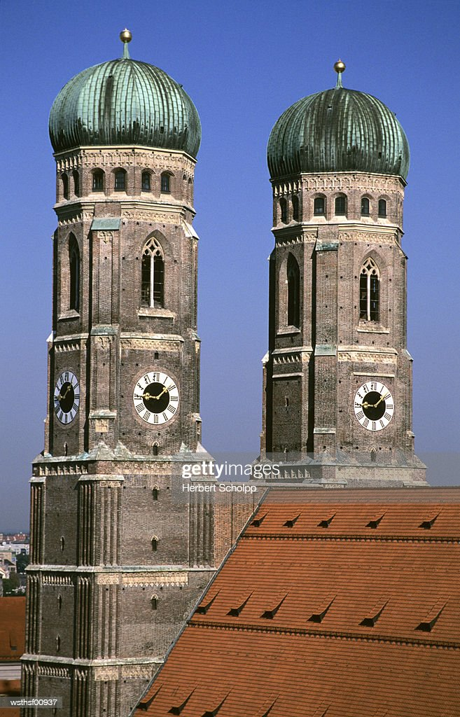 Germany, Bavaria, Munich, Frauenkirche, Marienplatz : Stock Photo