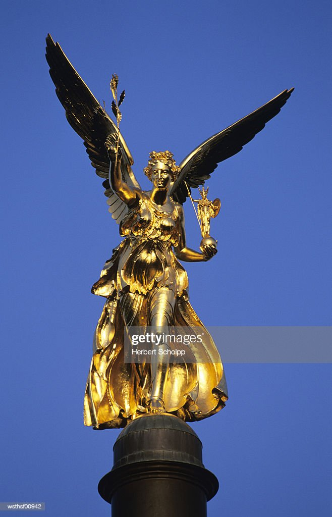 Germany, Bavaria, Munich, Friedensengel : Stock Photo