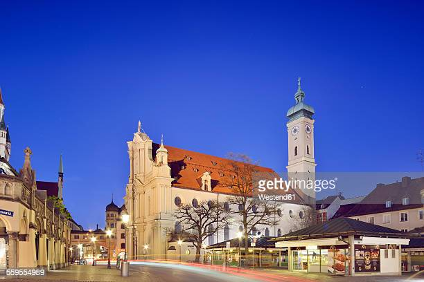 Germany, Bavaria, Munich, Holy Spirit Church on Viktualienmarkt