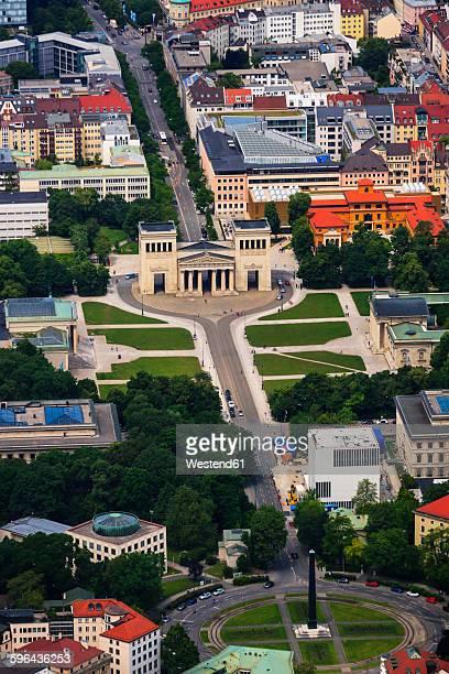 Germany, Bavaria, Munich, Konigsplatz and Karolinenplatz