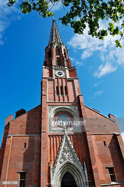 germany, bavaria, munich, maria-hilf-kirche - kirche stock pictures, royalty-free photos & images