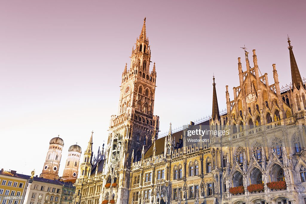 Germany, Bavaria, Munich, New Town Hall at Marienplatz : Stock Photo