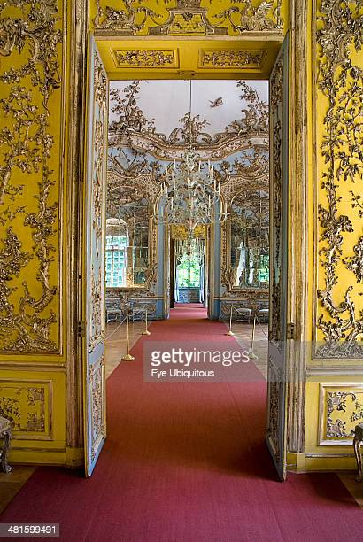 Germany Bavaria Munich Nymphenburg Palace Amalienburg The Hall of Mirrors interior of hunting lodge created for Electress Amalia in European Rococo...