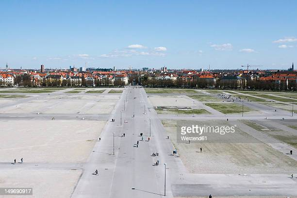 germany, bavaria, munich, people at theresienwiese - theresienwiese stock pictures, royalty-free photos & images