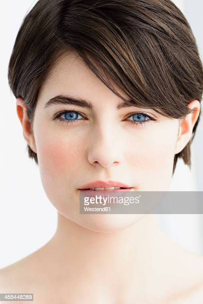 Germany, Bavaria, Munich, Portrait of young woman, close up