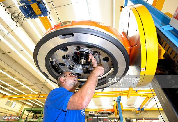 Germany Bavaria Munich ProductIon of engines for the Eurofighter fighter plane at MTU Aero Engines GmbH in Munich