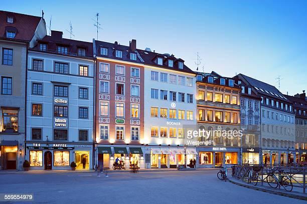 Germany, Bavaria, Munich, Residenzstrasse at blue hour