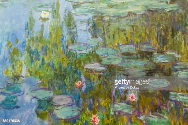 Germany Bavaria Munich The New Pinakothek Museum Painting titled 'WaterLilies' by Claude Monet dated 1915