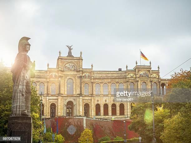 Germany, Bavaria, Munich, View of Bavarian parliament building at Maximilianeum
