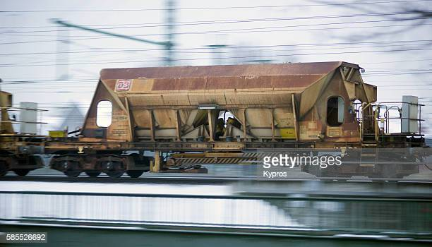 Germany, Bavaria, Munich, View Of Freight Train